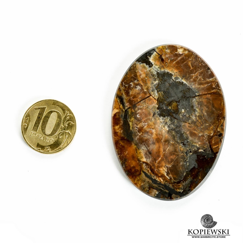 Симбирцитовый кабошон 60*40*3 мм