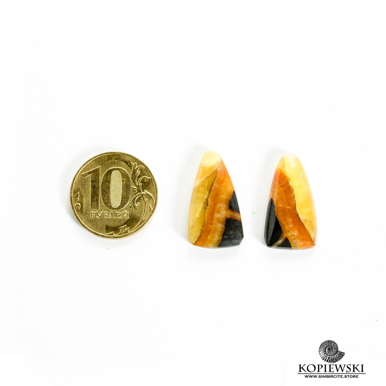 Парные кабошоны Симбирцит 30*10*3 мм