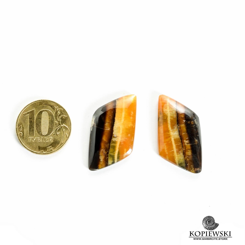 Парные кабошоны Симбирцит 25*15*3 мм