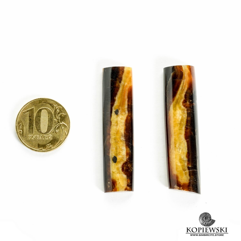 Парные кабошоны Симбирцит 50*10*3 мм