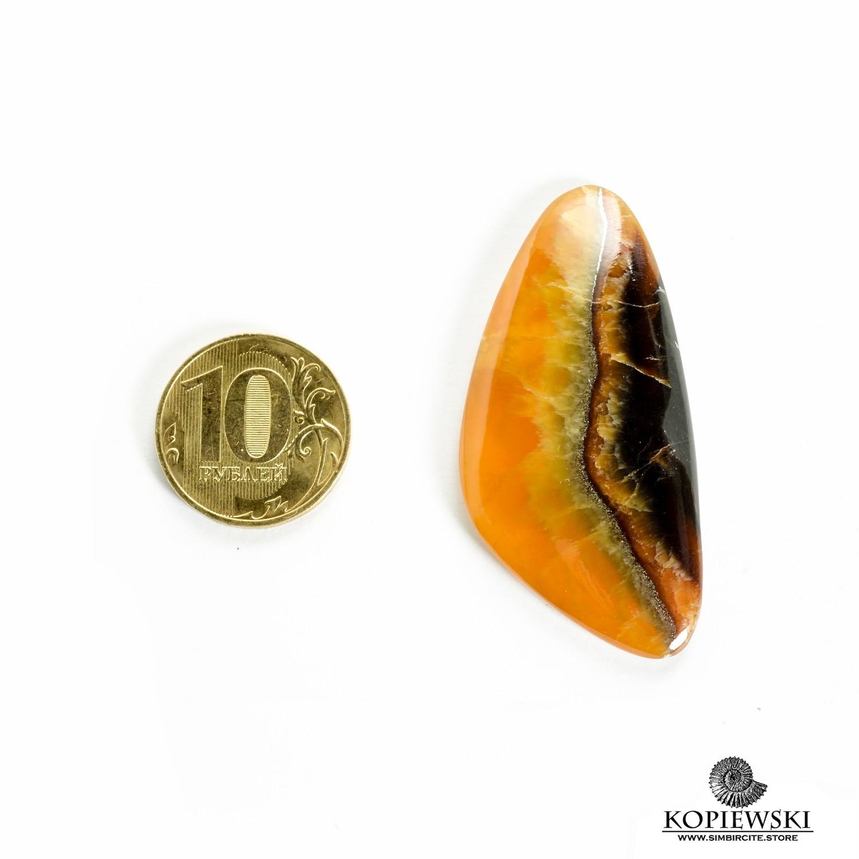 Симбирцитовый кабошон 55*25*3 мм