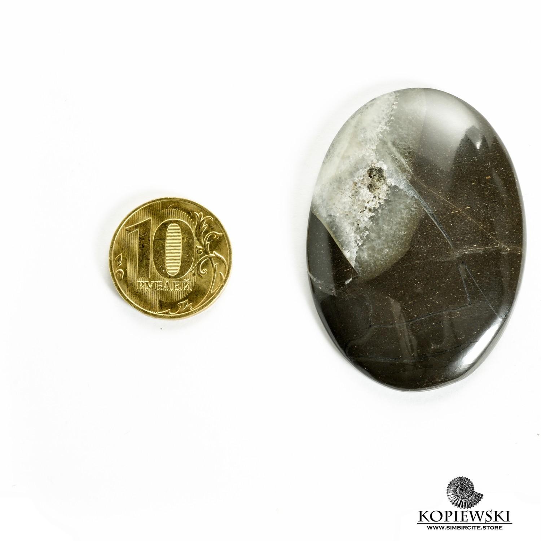 Симбирцитовый кабошон 55*38*3 мм