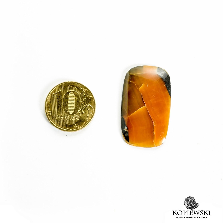 Симбирцитовый кабошон 35*20*3 мм