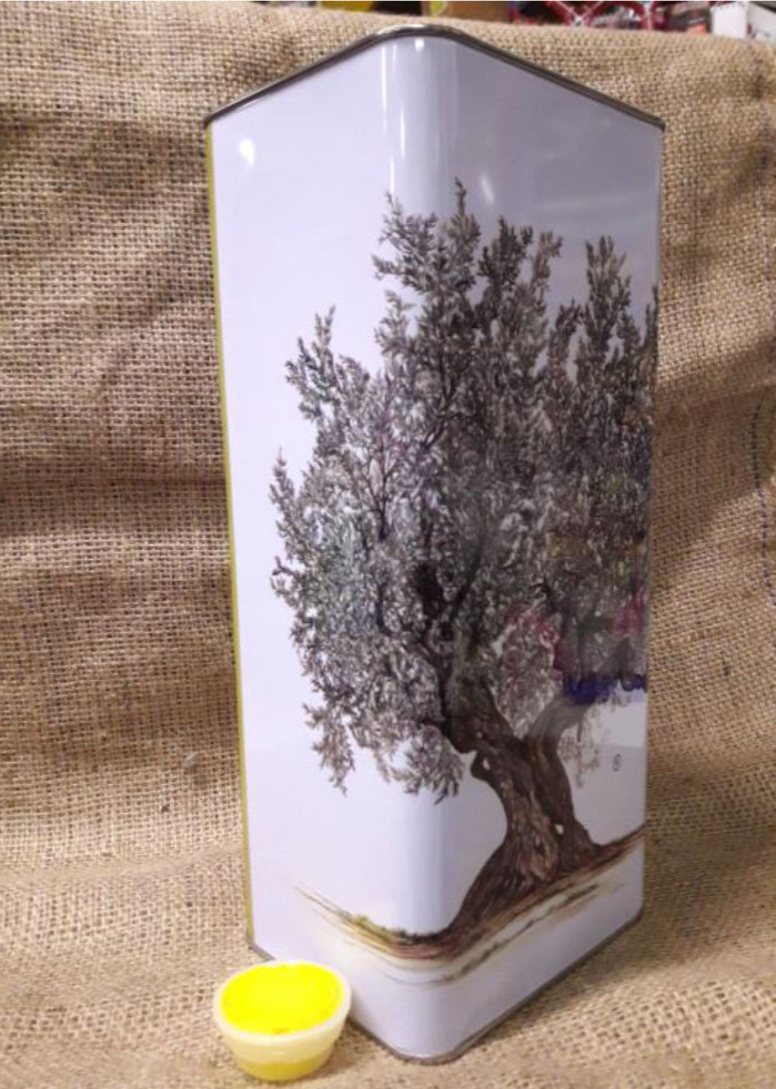 Lattina lt.3 con tappo (confezione da 12 pz.) 150x92x260h OL0003