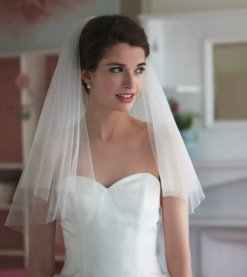 Simple Two Layers Veil Bride Bridal Gown Wedding Dress white Ivory Veils With Comb New