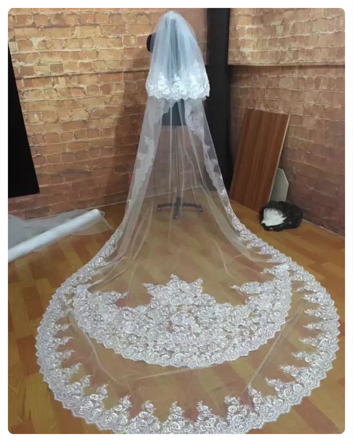 White/ivory 10 foot 2T tier cathedral wedding veil FREE SHIPPING!