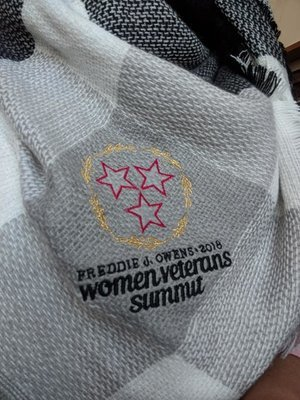 2018 Women Veterans Summit scarf