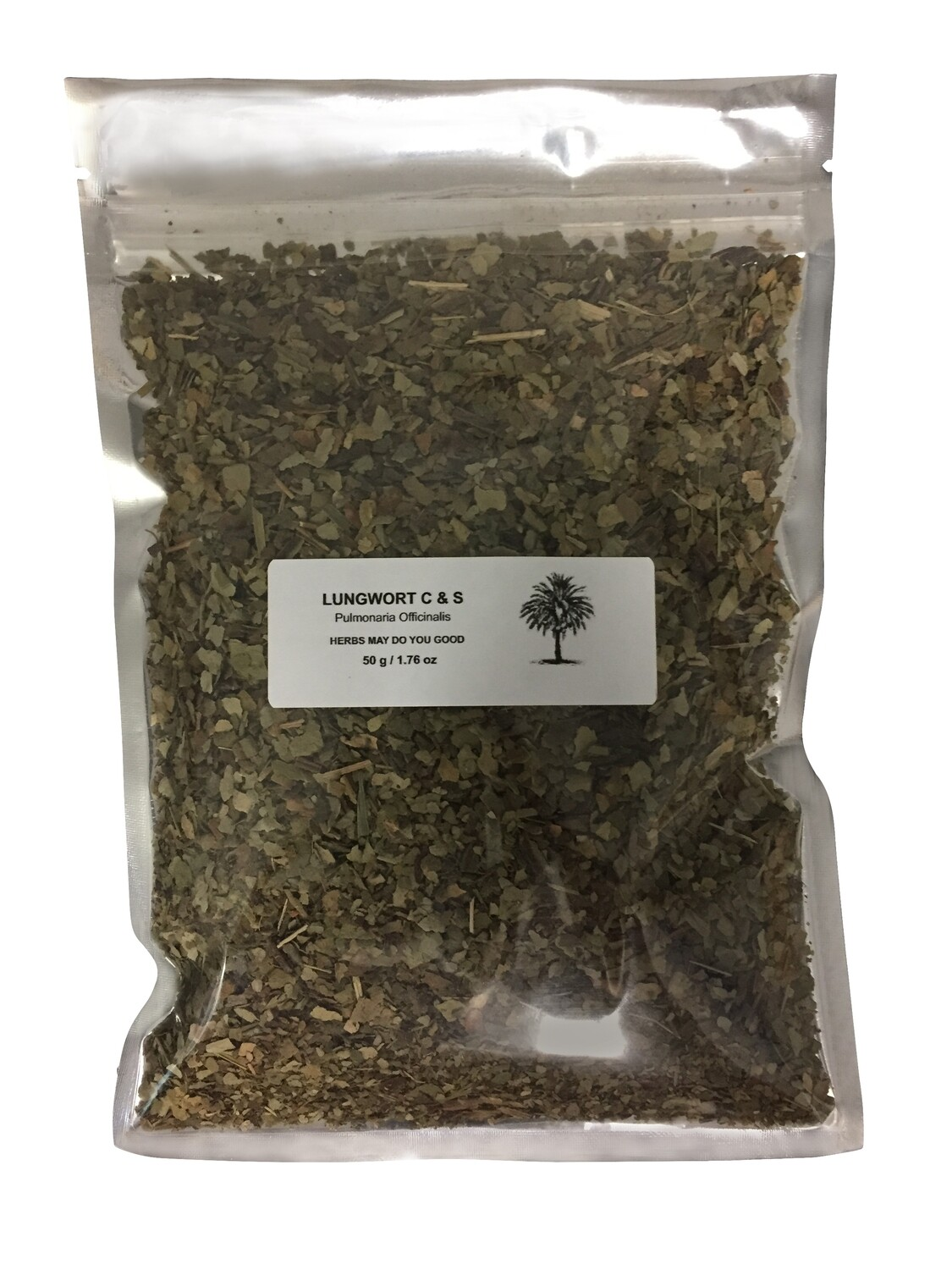 Lungwort Cut & Sifted 50 g / 1.76 oz (Smokers Tea)