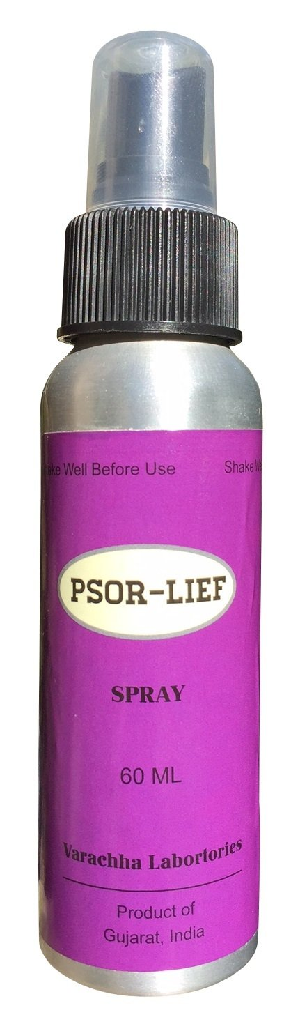 Psor-Lief Spray Plaque Symptoms of Psoriasis Eczema Dermatitis Relief 60ml