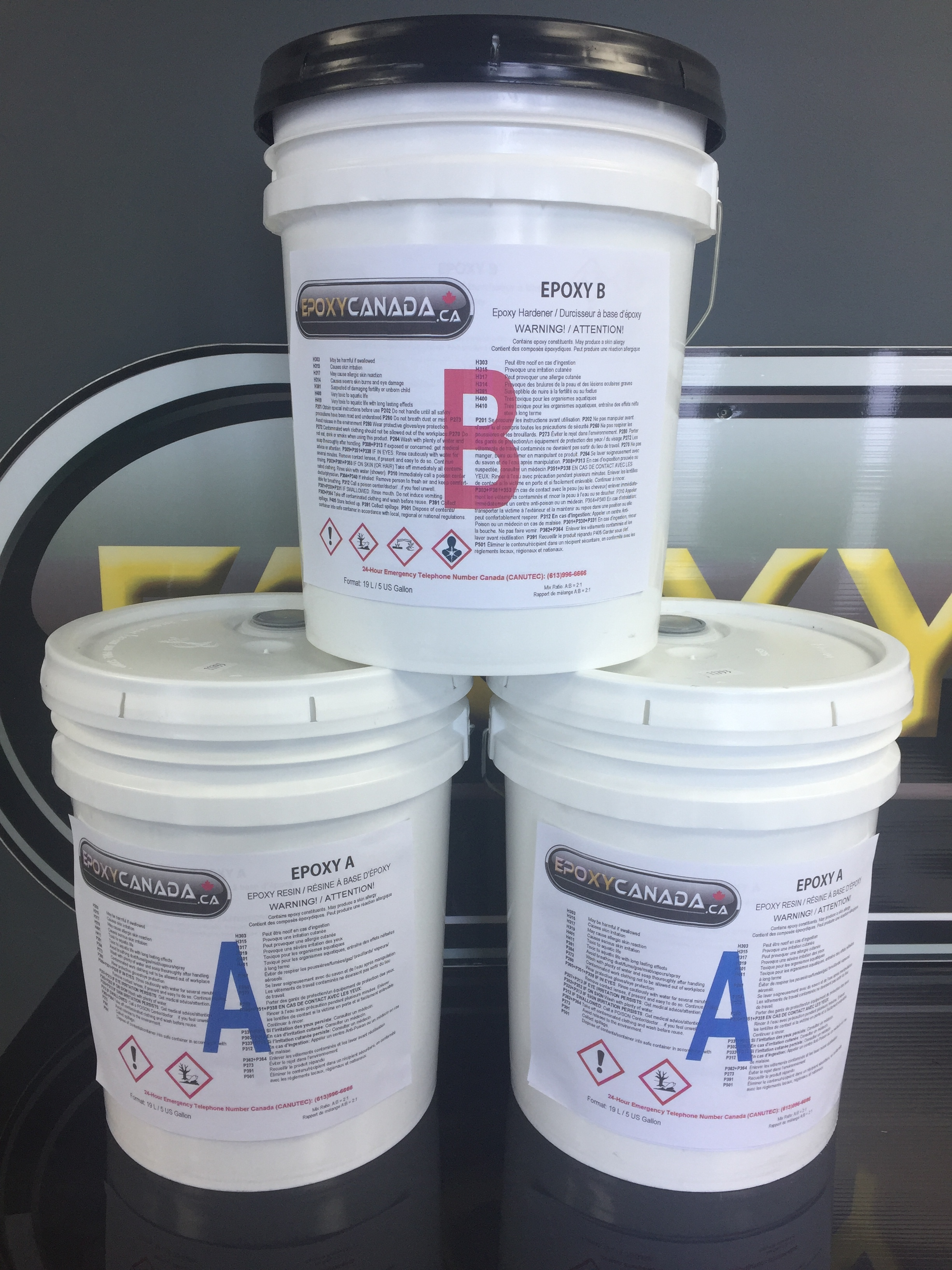 epoxy resin/résine époxydique 15 US GALLONS (56.7L) 00009