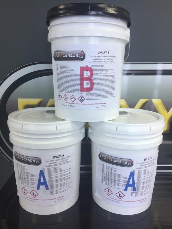 epoxy resin/résine époxydique 15 US GALLONS (56.7L)