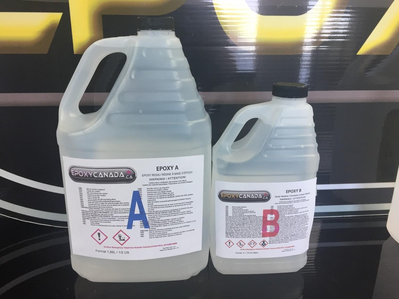 epoxy resin/résine époxydique 3/4 US gallon(2,85L)