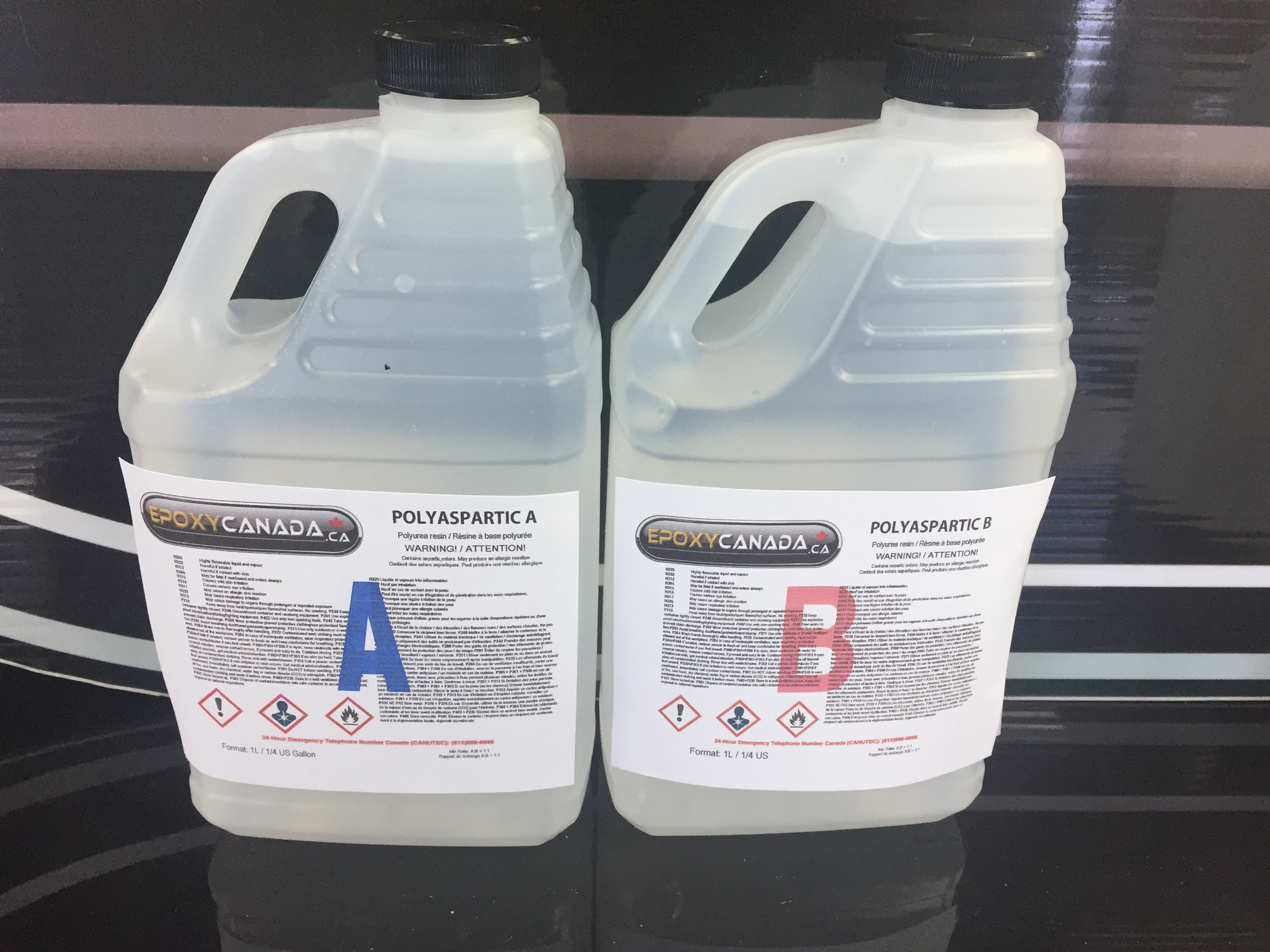 Polyaspartic resin/Résine polyaspartique 1/2 US GALLON (1.89) 00002