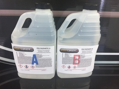 Polyaspartic resin/Résine polyaspartique 1/2 US GALLON (1.89)