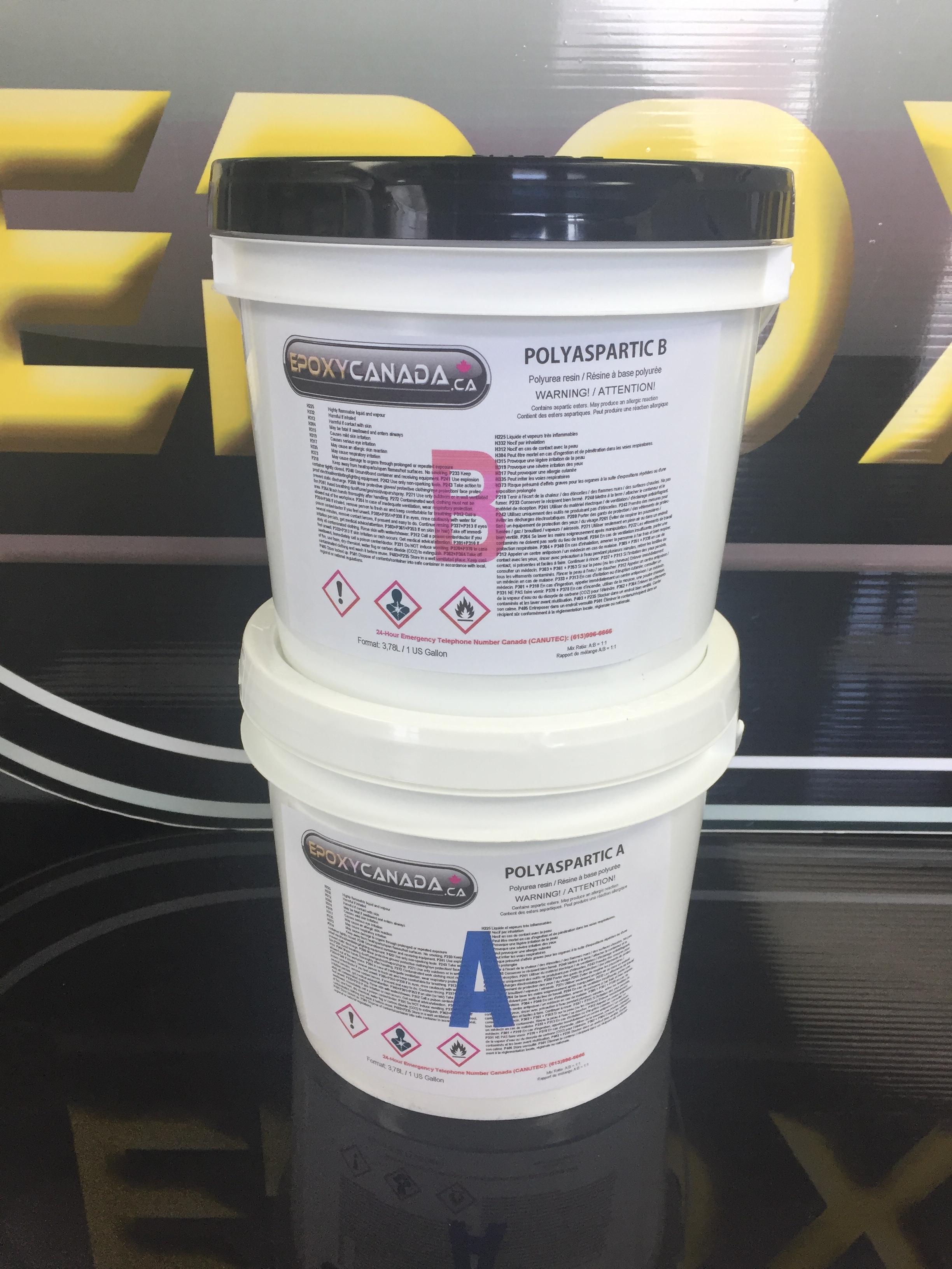 Polyaspartic resin/Résine polyaspartique 2 US GALLON (7,56L) 00012