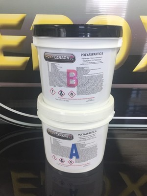 Polyaspartic resin/Résine polyaspartique 2 US GALLON (7,56L)