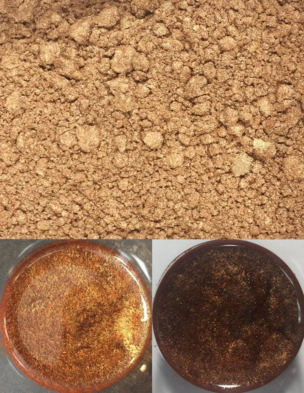 metallic pigments golden brown/pigments métalliques brun doré