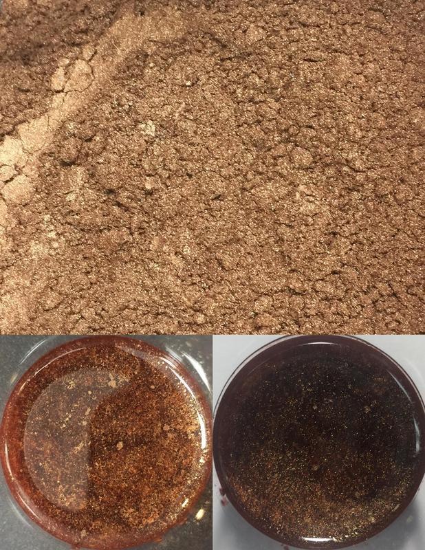 metallic pigments chocolate/pigments métalliques chocolat