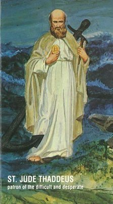 St. Jude with Anchor Prayer Card (English)