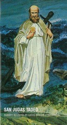 St. Jude with Anchor Prayer Card (Español)