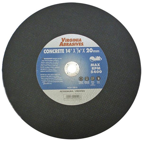 "14"" Concrete Abrasive Blade 1"" Arbor 00004"