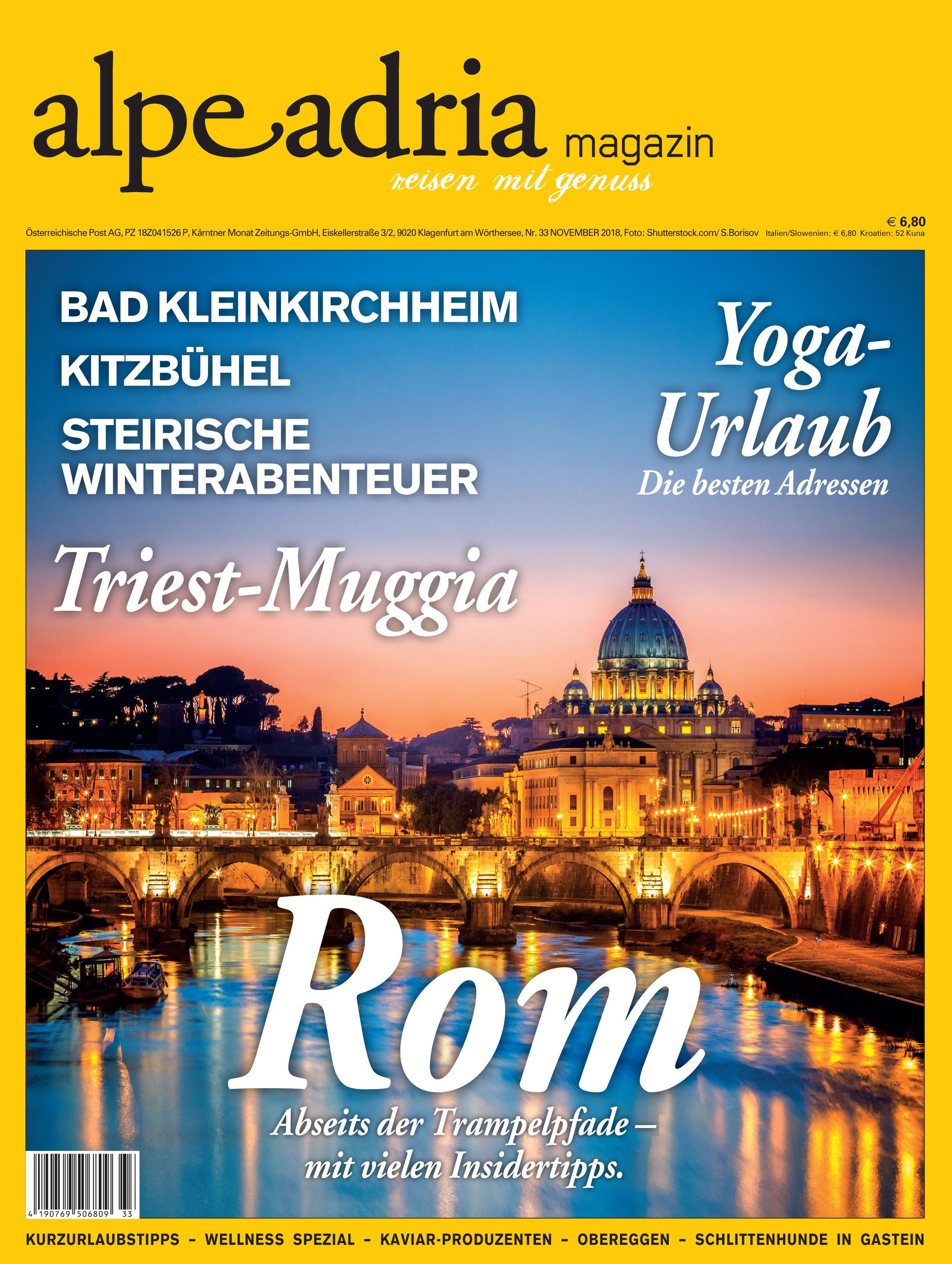 Aktuelle gedruckte Einzelausgabe Alpe Adria Magazin 00042