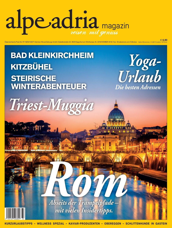 Aktuelle gedruckte Einzelausgabe Alpe Adria Magazin