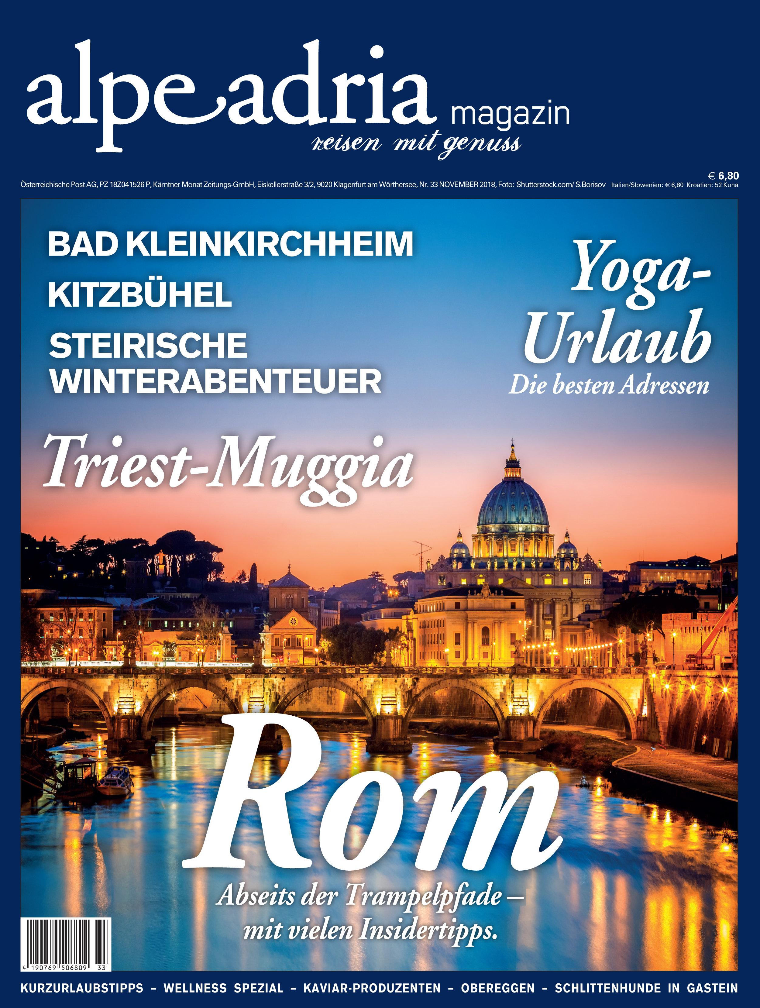 Aktuelle gedruckte Einzelausgabe Alpe Adria Magazin Dtl. 00146