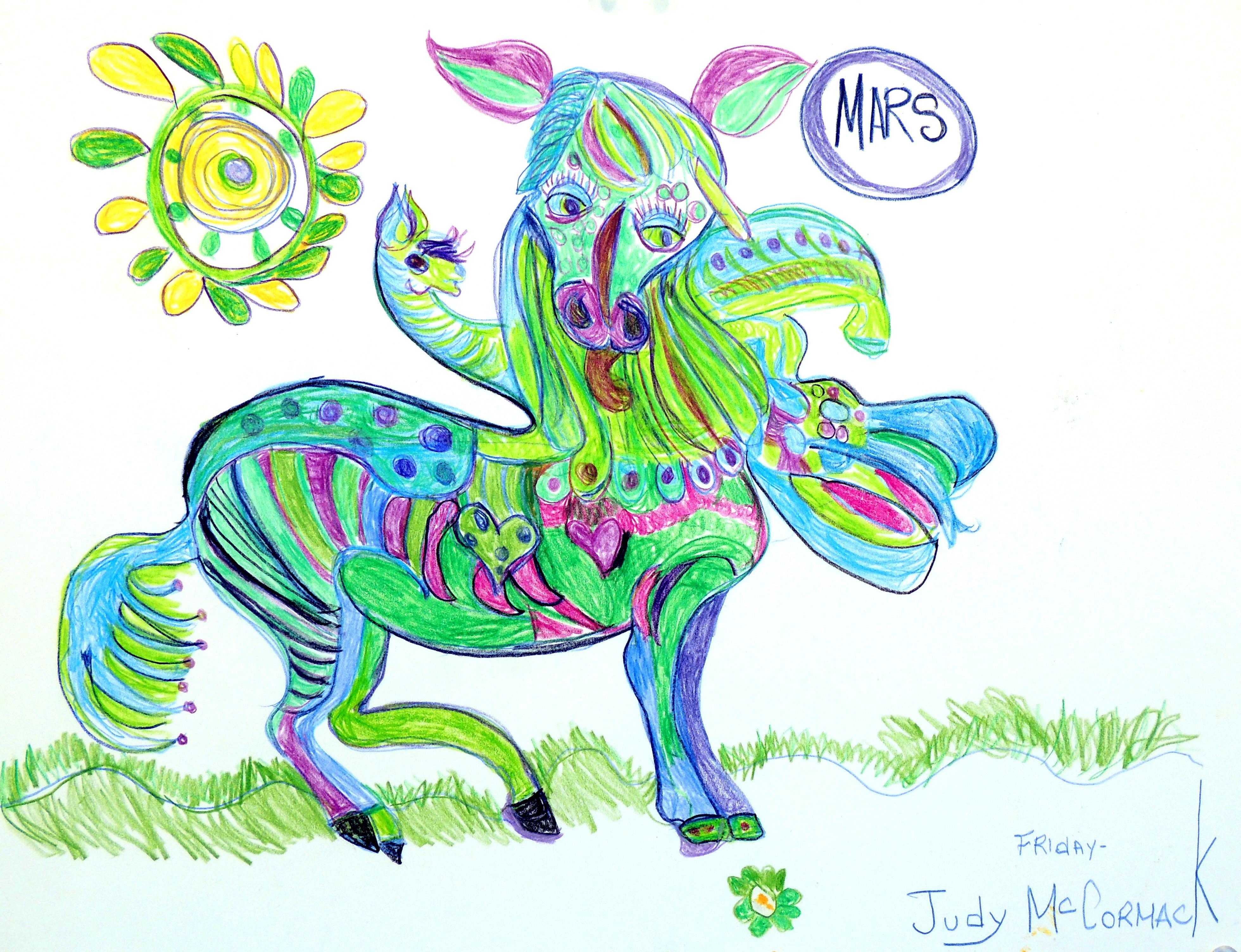 "Art - McCormack, Judy - ""Horse, Sun, Mars"" 00051"