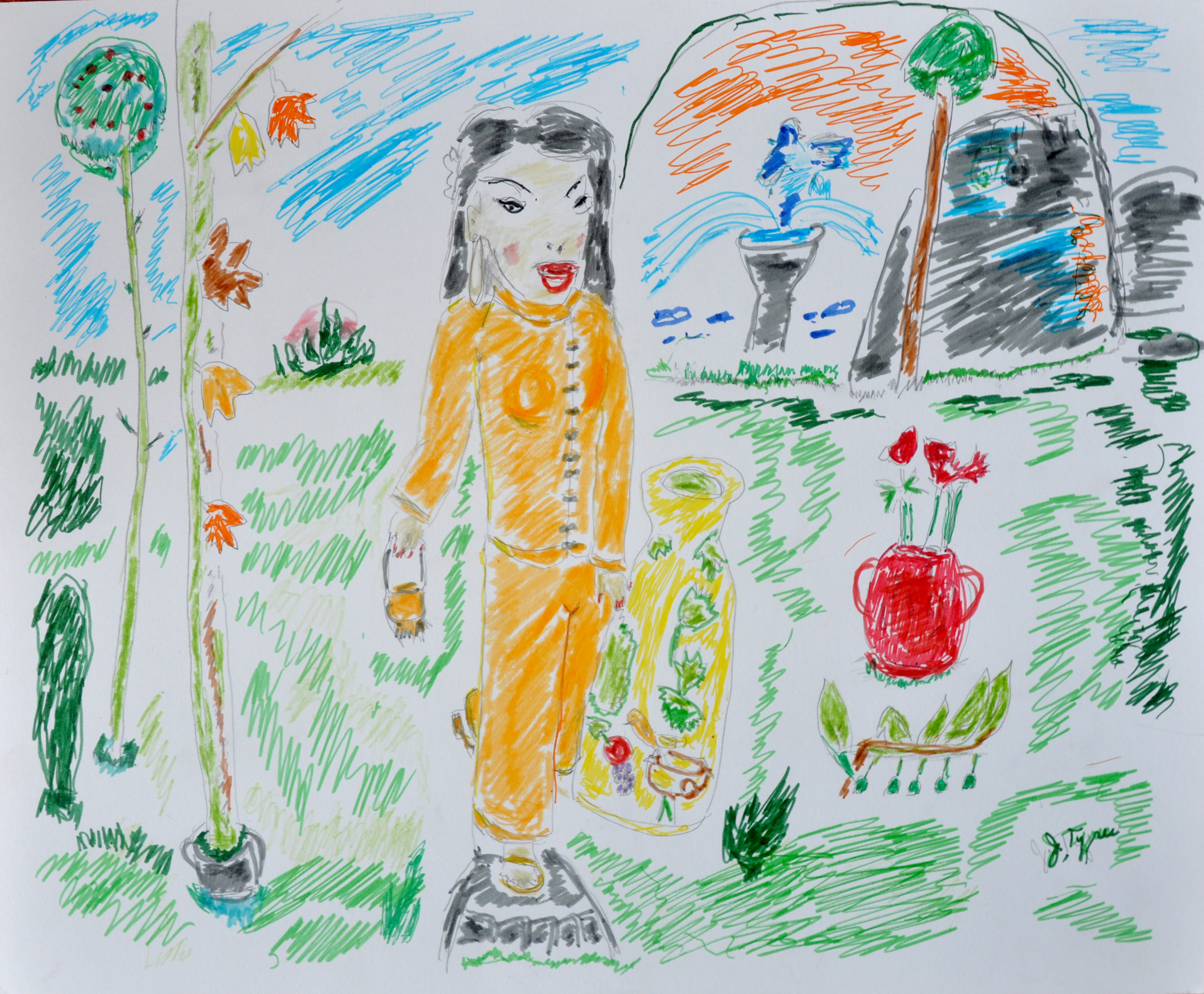 "Art -  Rappaport, Juanita - ""A Stroll Through the Garden"" 00058"