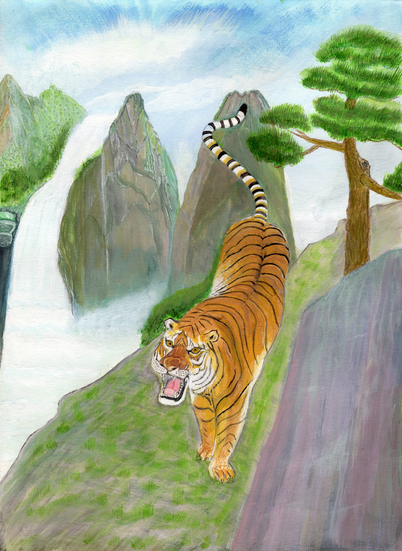 """Art - Ouyang, Kekun - """"Master Tiger"""" 00065"""