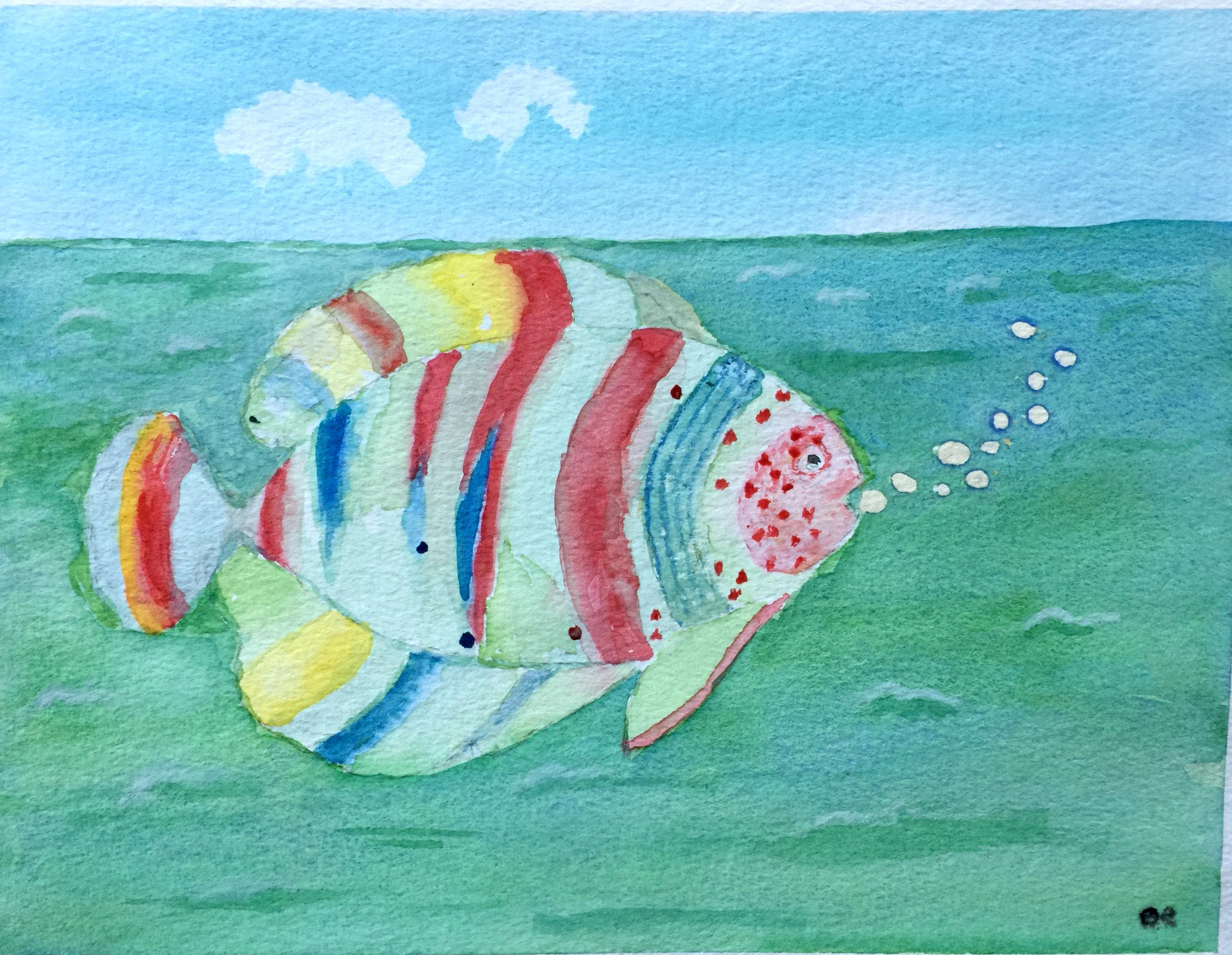 "Art - Mardel, Sr. Bea - ""Whimsical Fish"" 00068"