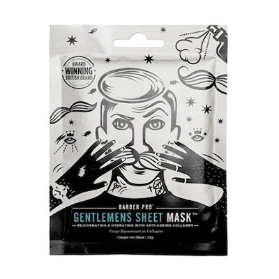 "Barber Pro ""Gentlemens Sheet Mask"" / УВЛАЖНЯЮЩАЯ И ОМОЛАЖИВАЮЩАЯ МАСКА 23ml"