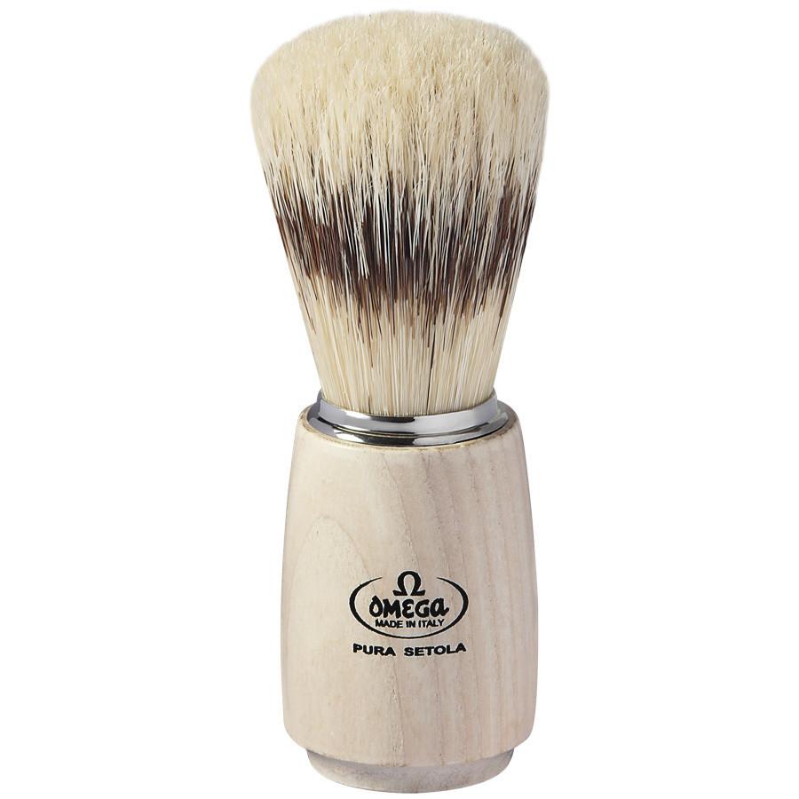 Omega 11711 - Помазок для бритья Щетина кабана Дерево