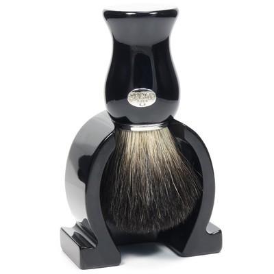 Omega 6614 - Помазок для бритья с держателем, Барсучий ворс.