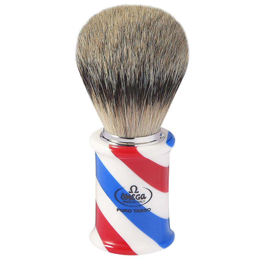 Omega 6735 - Помазок для бритья Ворс серебристого барсука