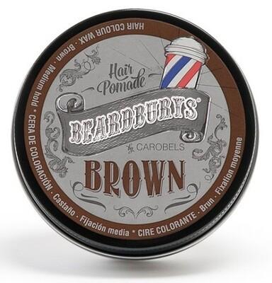 BeardBurys Color Hair Pomade Brown - Красящая помада коричневая 100 мл