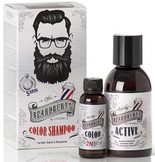 BeardBurys Black Color Shampoo 2N - Красящий шампунь черный