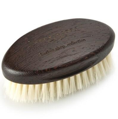 Acca Kappa Beard Brush - Щетка для бороды с основой из дерева (белая щетина)
