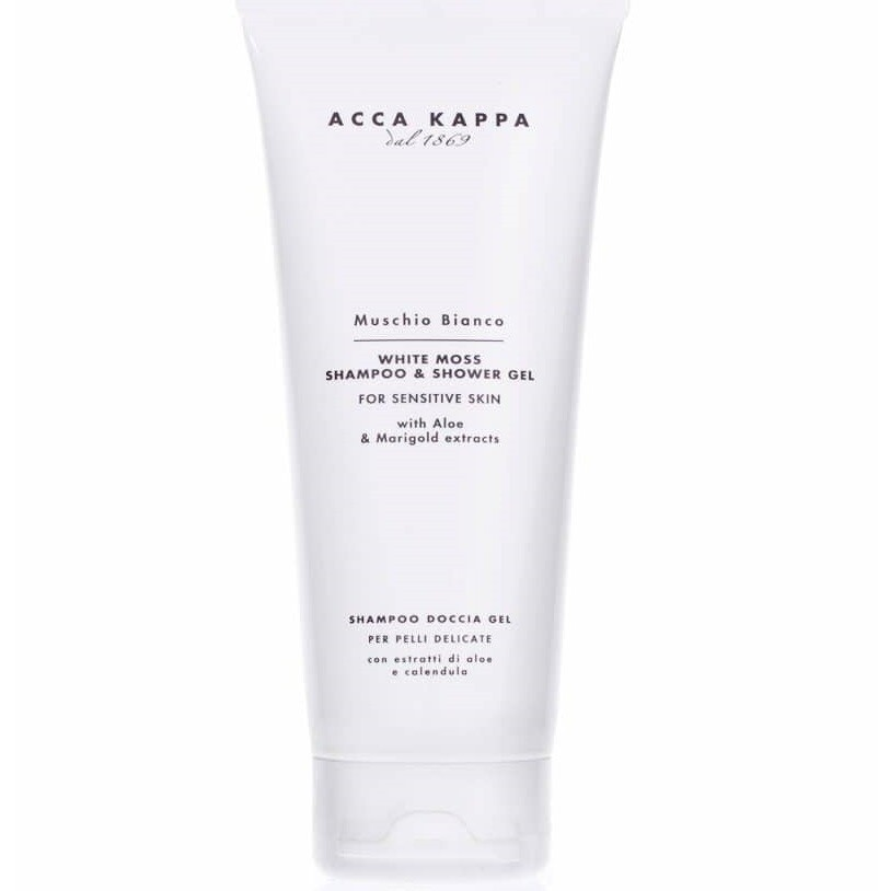 Acca Kappa Muschio Bianco Shower & Hair Gel - Шампунь-гель для душа Белый Мускус 200 мл