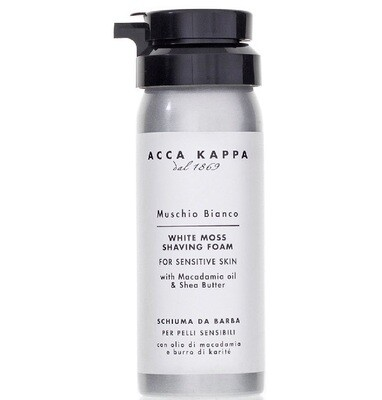 Acca Kappa Muschio Bianco Shaving Foam - Пена для бритья 50 мл
