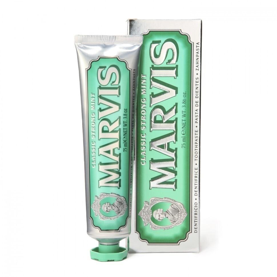 Marvis Classic Strong Mint - Зубная паста Классическая насыщенная мята 85 мл