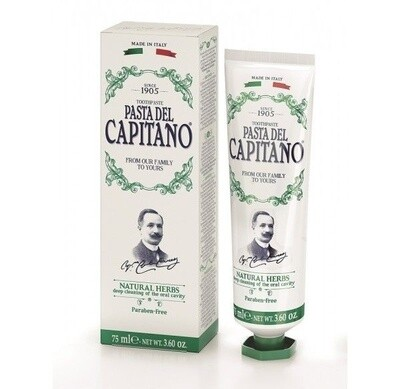 Pasta del Capitano Natural herbs - Зубная паста натуральные травы 25 мл