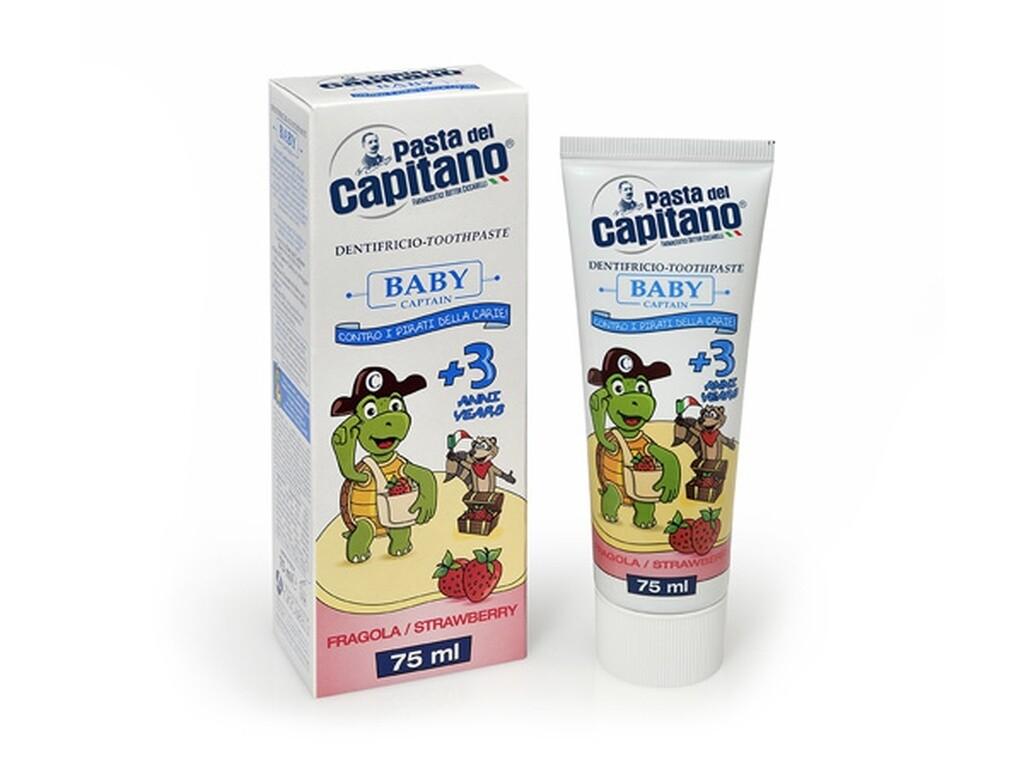 Pasta del Capitano Strawberry - Зубная паста детская 75 мл