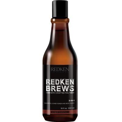 Redken Brews 3 in 1 - Шампунь, кондиционер и гель для душа 3 в 1, 300 мл