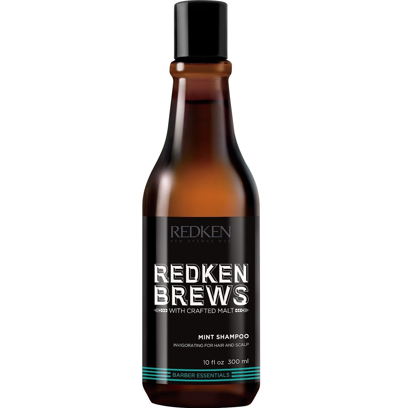 Redken Brews Mint Shampoo - Тонизирующий шампунь 300 мл