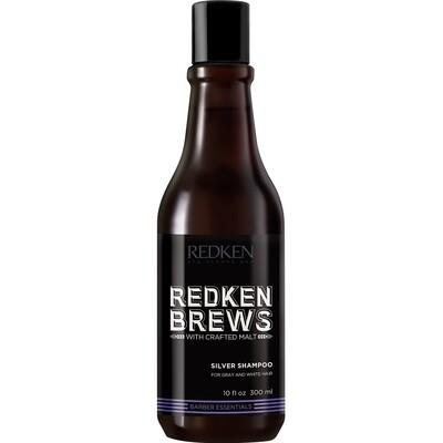 Redken Brews Silver Shampoo - Шампунь для нейтрализации желтизны седых и осветленных волос 300 мл