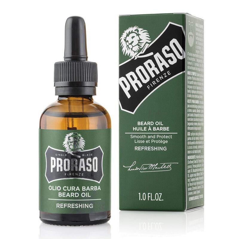 Proraso Beard Oil Refreshing - Масло для бороды  Освежающий Эвкалипт и Ментол 30 мл