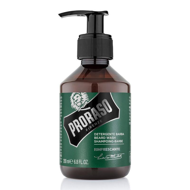 Proraso Beard Shampoo Refreshing - Шампунь для бороды Освежающий Эвкалипт и Ментол 200 мл