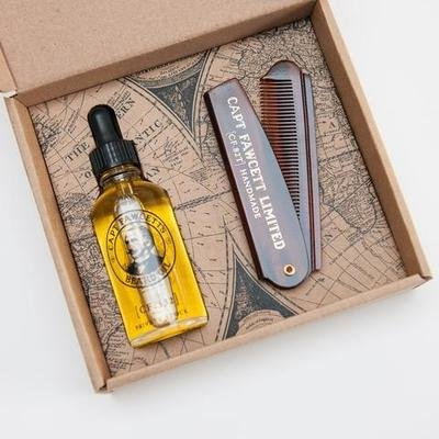 Подарочные набор Captain Fawcett Beard Oil (CF.332) & Folding Pocket Beard Comb (CF.82T)